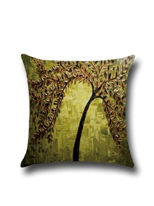 Impressionism Painting Linen Square Pillowcase Cover