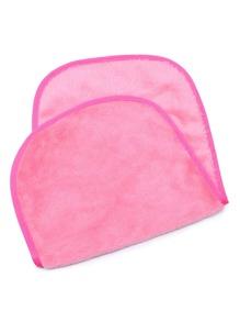 Hot Pink Discharge Makeup Towel