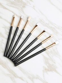 Black 7PCS Metallic Makeup Brush Set