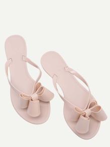 Pink Bow Detail Flip Flops