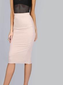 Jersey Knit Midi Skirt TAUPE