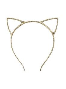 Gold Cute Cat Ears Headband