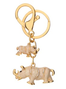 Gold Animal Design Keychain