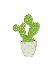 Green Color  Enamel Plant Shape Big Brooches Jewelry