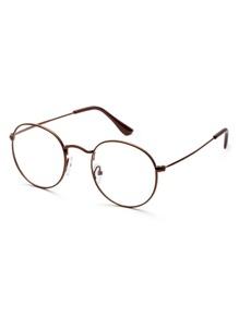 Brown Frame Clear Lens Glasses