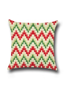 Chevron Pattern Minimalist Linen Cushion Cover