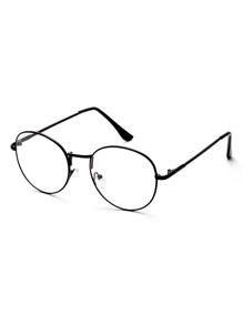 Black Frame Clear Lens Glasses