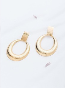 Gold Hollow Out Stud Earrings