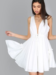 Tank Flow Frill Dress WHITE