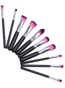 Black And Hot Pink Makeup Brush Set