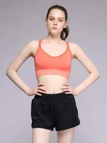 Double Strap Caged Back Sports Bra