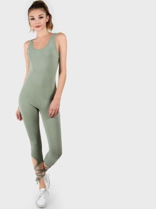 Ankle Lace Tank Catsuit SAGE