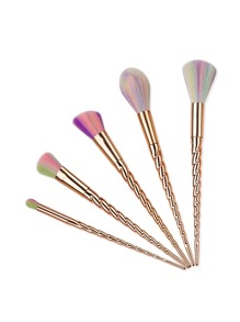 Gold Spiral Design Makeup Brush Set