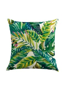 Green Plant Pillowcase Cover