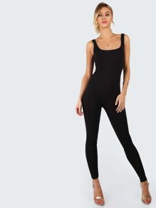 Skinny Fit Tank Jumpsuit BLACK