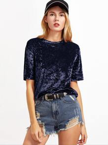 Short Sleeve Crushed Velvet T-shirt