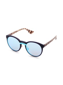 Double Bridge Contrast Lens Sunglasses