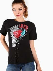 Laced Down Graphic Tee BLACK