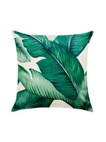 Leaf Print Pillowcase Cover