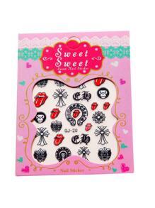 Red Mouth Nail Sticker Set