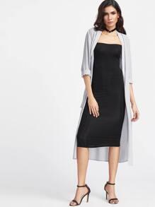 Grey Long Sleeve Kimono