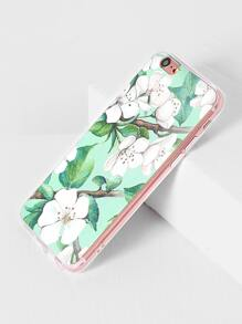 Flower And Leaf Print iPhone 6/6s Case