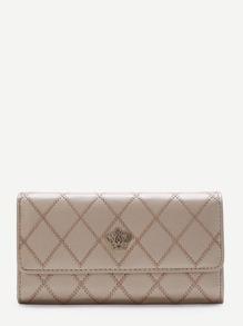 Gold Crown Design Fold Wallet