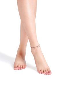 Rose Gold Hollow Out Flower Shape Anklet
