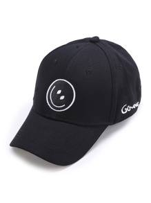 Emoji Embroidery Baseball Hat