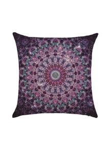 Purple Vintage Square Pillowcase Cover