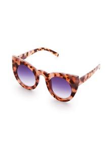 Leopard Frame Cat Eye Sunglasses