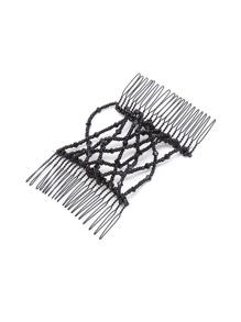 Random Color Beaded Design Hair Comb 1PCS