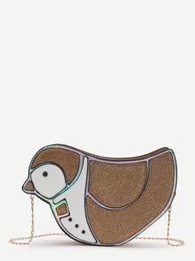 Bird Shaped Crossbody Bag With Chain