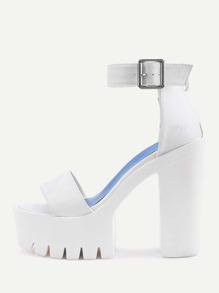 Two Part Platform High Heeled Sandals