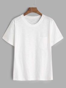 White Short Sleeve Pocket T-shirt