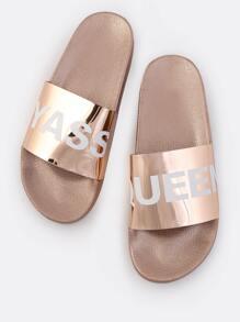 YASS QUEEN Metallic Sandals ROSE GOLD