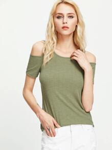 Open Shoulder T-shirt
