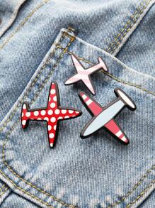 Red Aircraft Shaped Pin Set