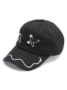 Black Pin Design Baseball Cap