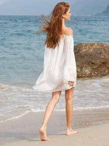 Bardot Bell Sleeve Dress