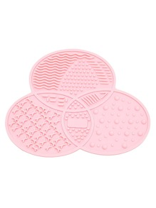 Pink Asymmetrical Makeup Cleaner Plate