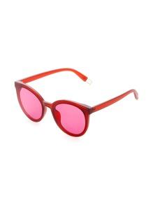 Red Lens Cat Eye Sunglasses