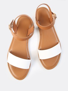 Single Band Ankle Sandals WHITE