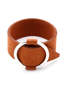 Contrast Ring Buckle Bracelet