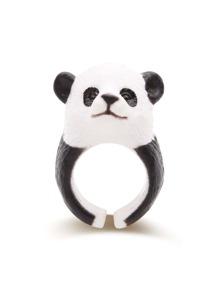 Black And White Panda Shaped Cute Ring