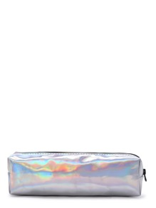 Bright Silver Makeup Case