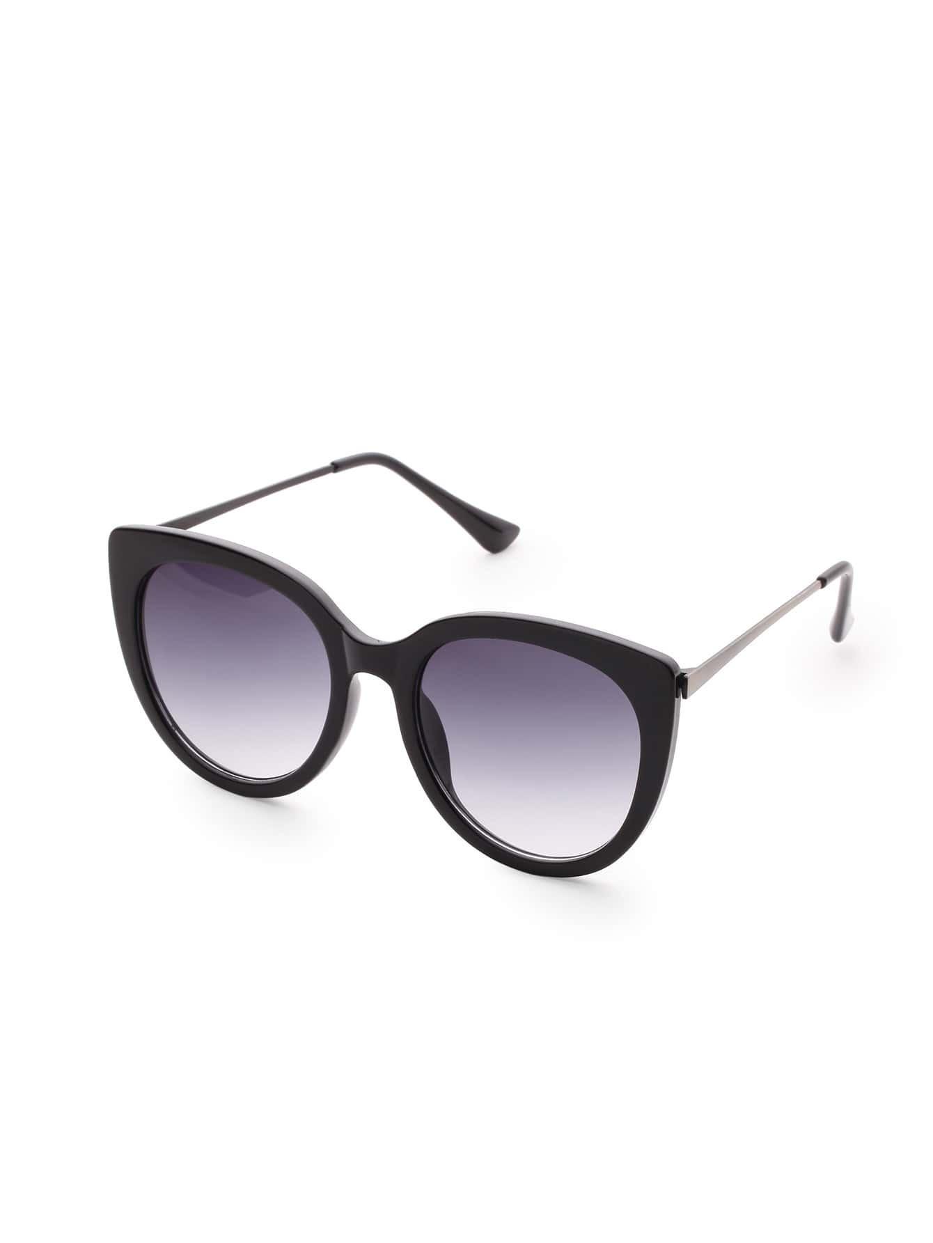 Black Frame Cat Eye Sunglasses EmmaCloth-Women Fast ...