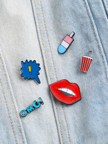 Multicolor Enamel Lip Pin Set