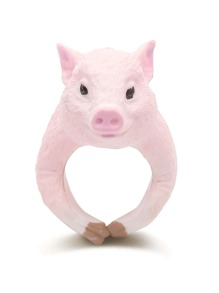 Pink Pig Shaped Cute Ring