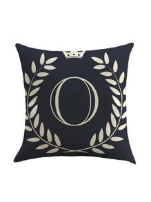 Black Crown Print Pillowcase Cover